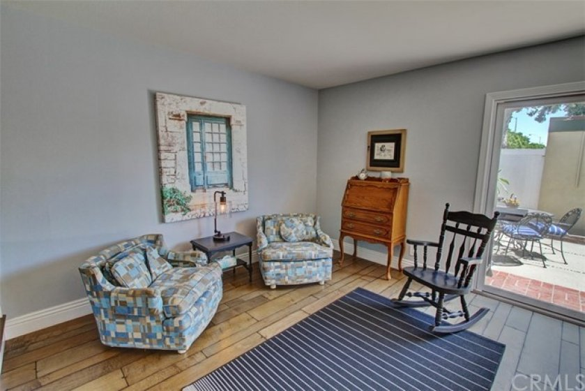 Family room with view if spacious patio.