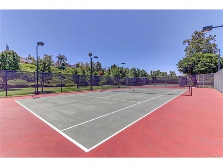 The community offers two tennis courts.