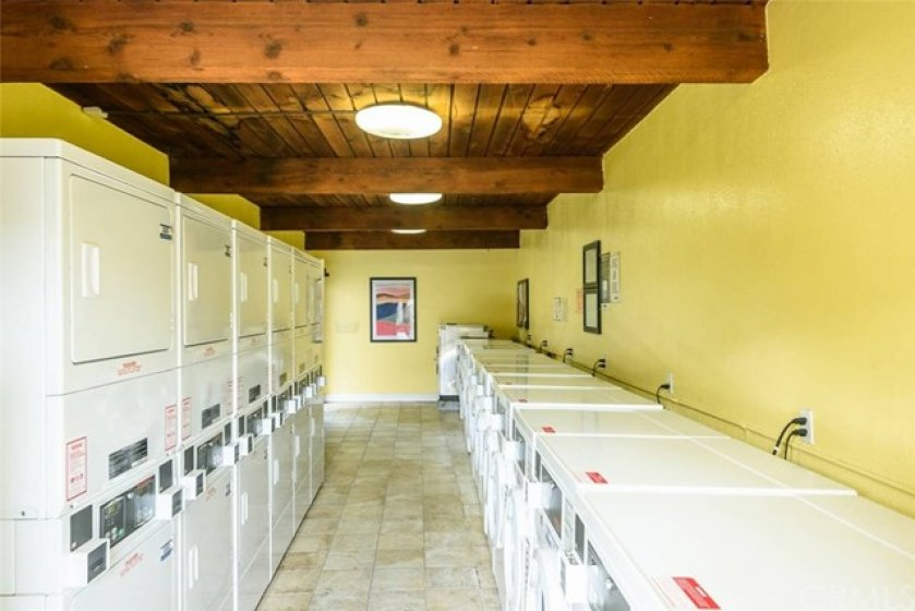 One of the multiple laundry rooms in the complex