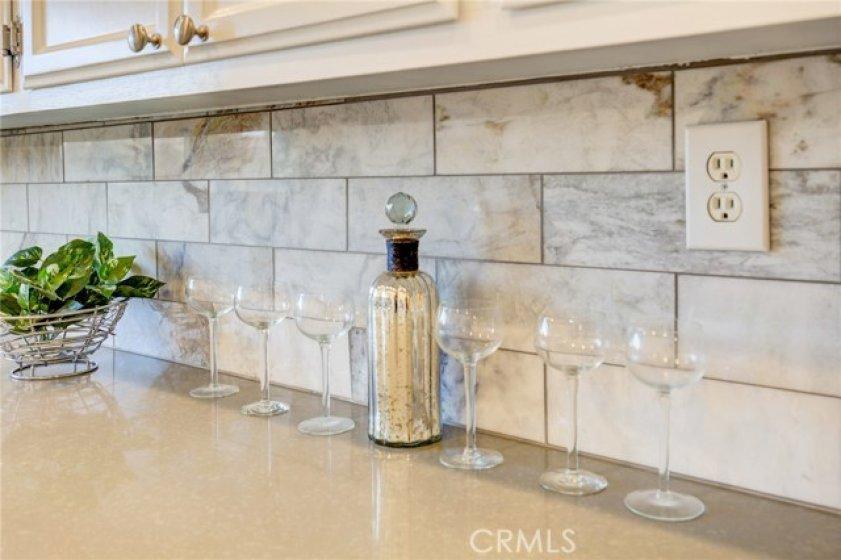 New gorgeous marble back splash.