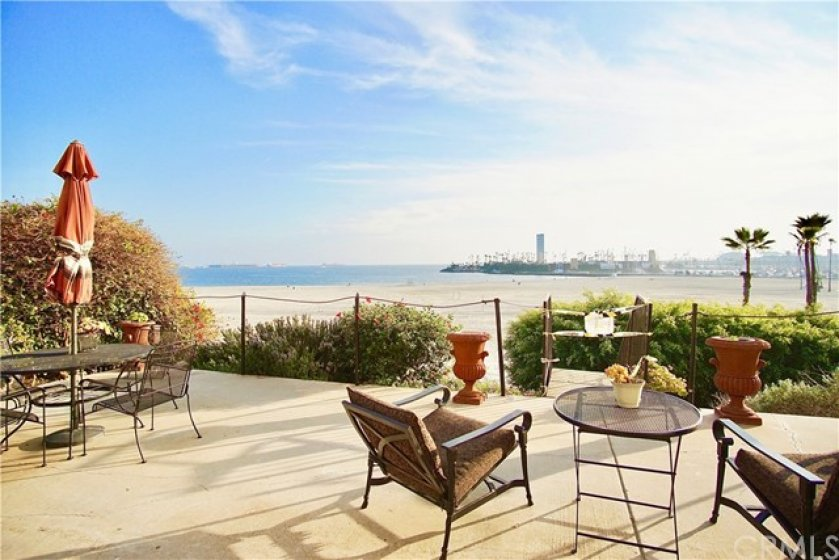 Common Area Ocean View Patio with sand access