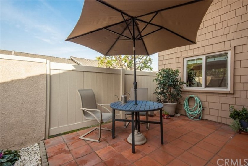 Private courtyard perfect for relaxing outdoors.