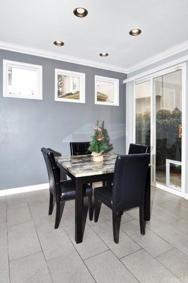 Dining area, leads to back patio.
