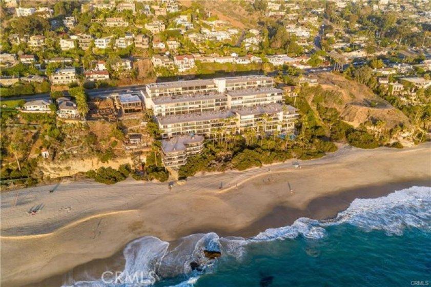 Aerial photo of the Laguna Royale along the Coast