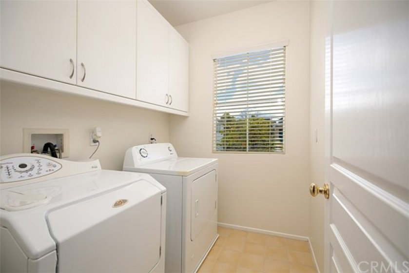 Wahoo! Inside Laundry!  BONUS!  The washer and dryer come with the home.  You're welcome!