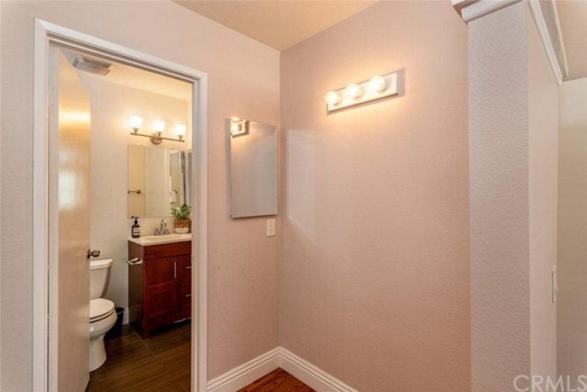 Direct access to the full bath from this bedroom.