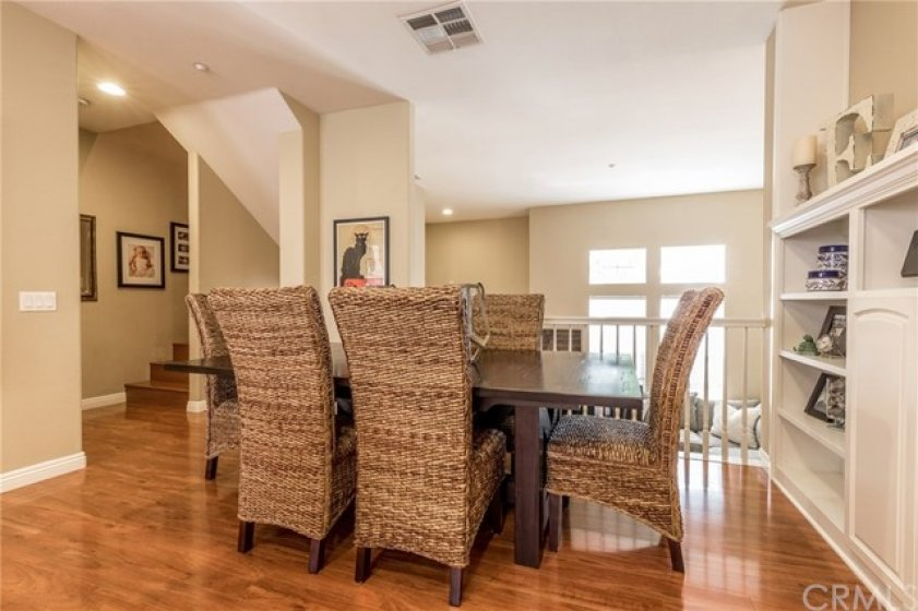 Dining area overlooks living room