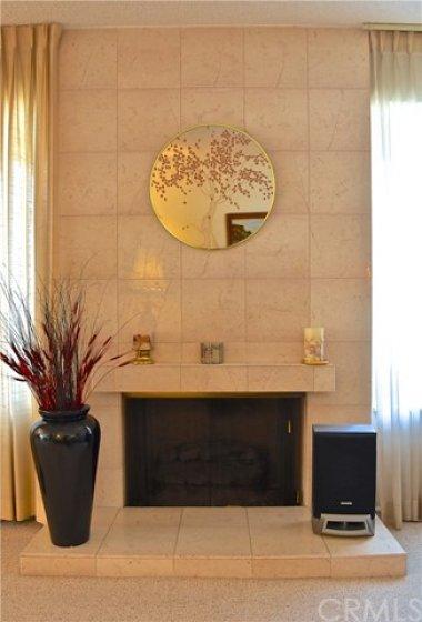 Tile Fireplace.
