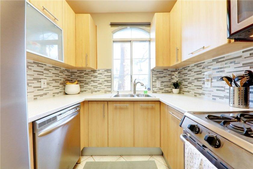 Updated modern-style kitchen