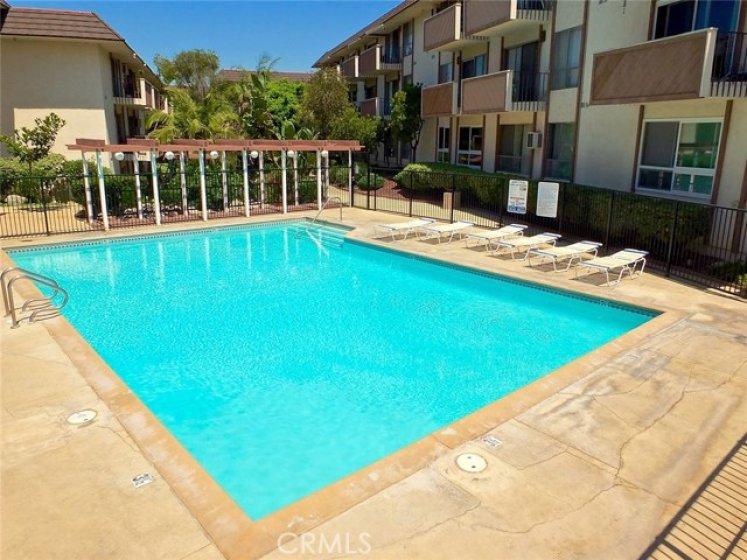 Big sparkling pool