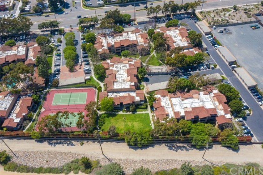 Overhead view of the complex.