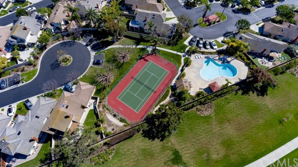 Community pool and tennis court ... the cul-de-sac on the left is just a few homes down from your new home and gives quick access to the HOA amenities