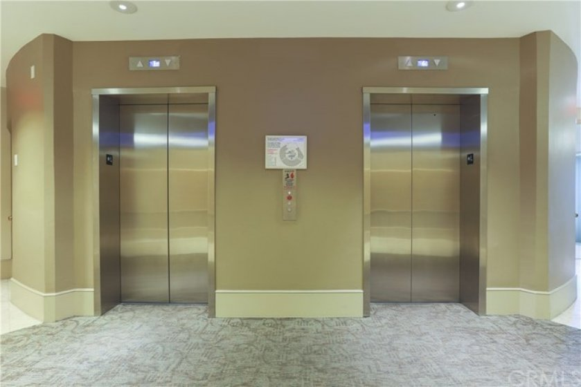 Two high speed security operated passenger elevators as well as a service elevator.