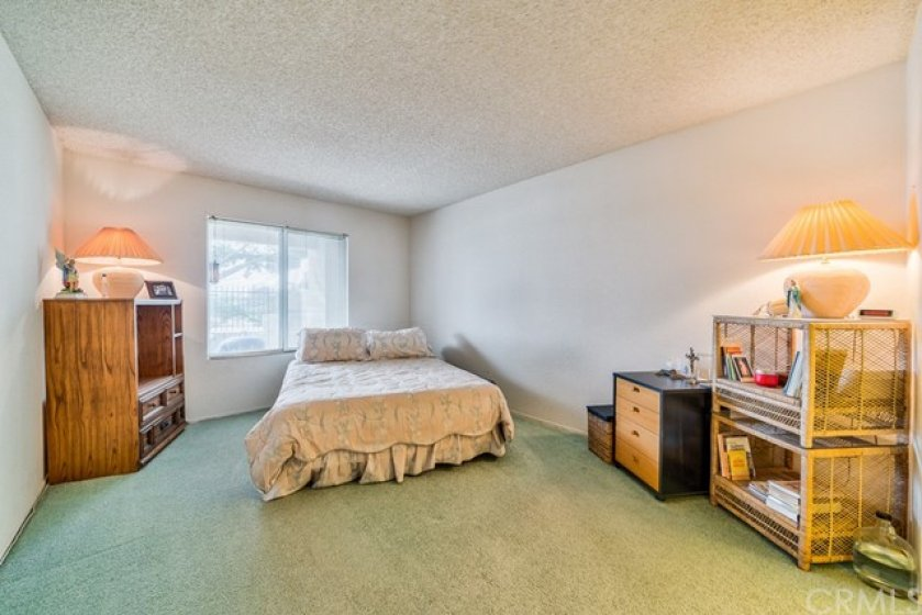 The master bedroom has lots of room.