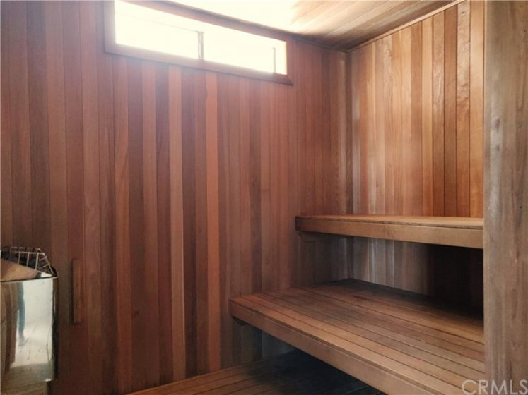 Community sauna room