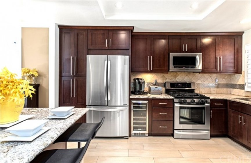 Remodeled Kitchen, with a movable center island.