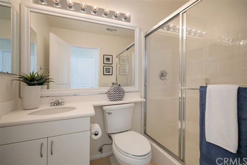 Also on the lower level is this 3/4 bath with walk-in shower.