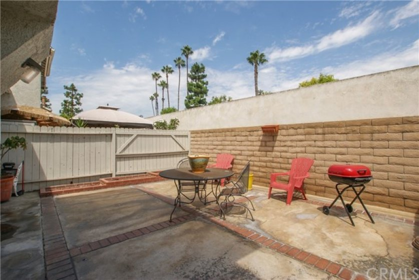 Large, private patio with endless possibilities