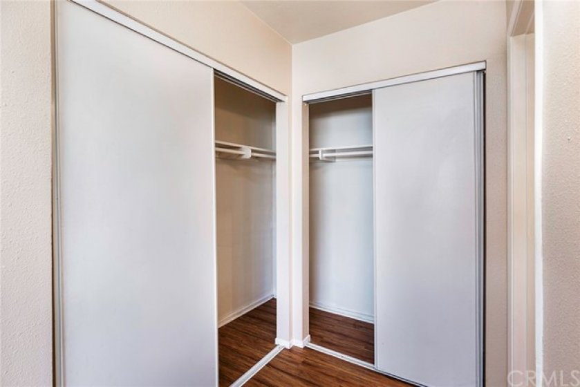 Two Master closets in your large master!