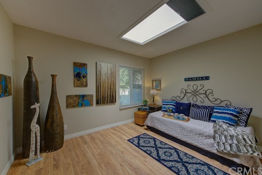 2nd bedroom with skylight,freshly painted and move-in perfect.