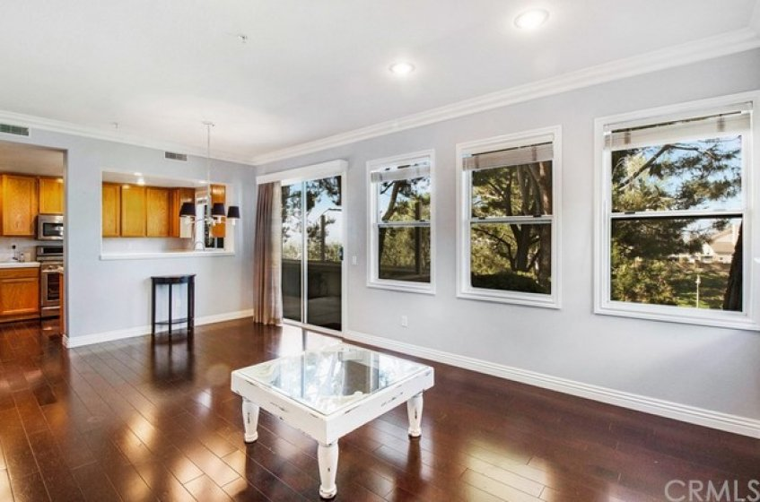 A View Among the Trees, Ample Living Space with Wood Flooring