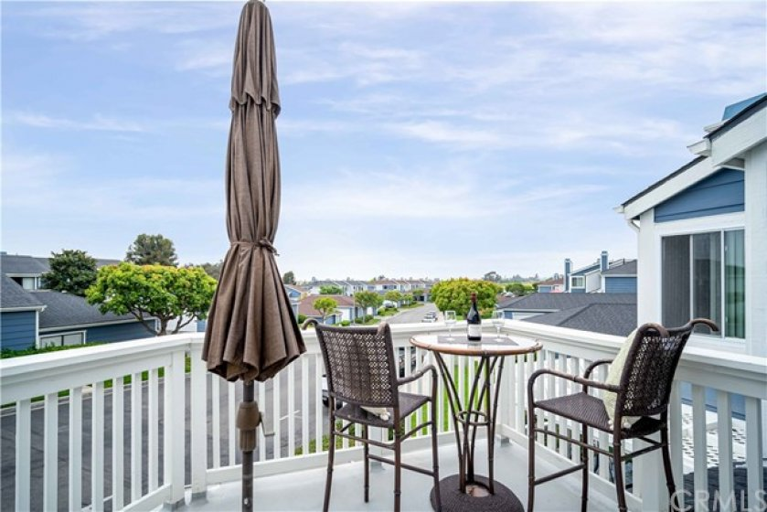 Enjoy the views from this large deck off the master!