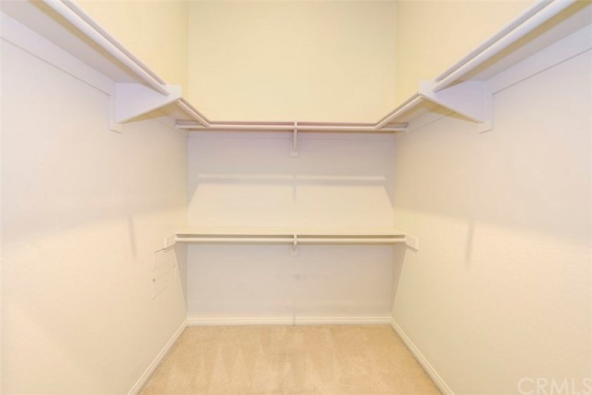 Walk-in closet in the master (there is also a second smaller closet!)