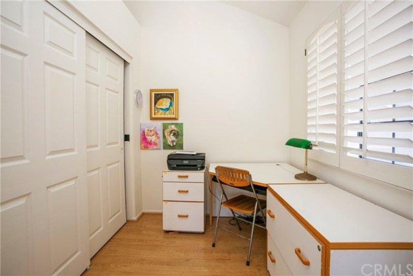 Office area in master bedroom