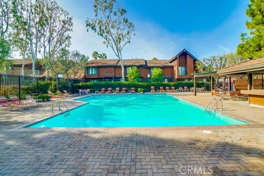 Large resort-style pool area