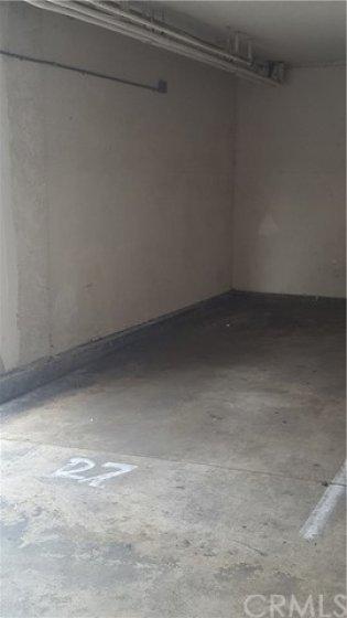 Parking space in garaged area...
