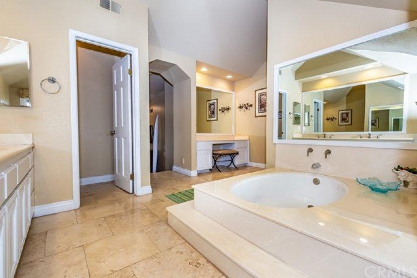 Spacious Master Bath w/Dressing area