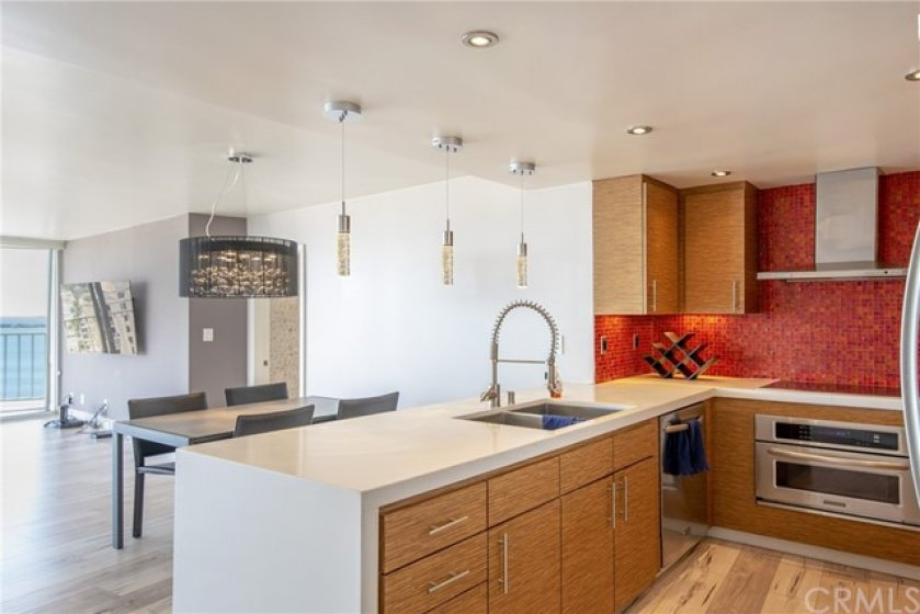 Modern remodeled kitchen with stainless appliances