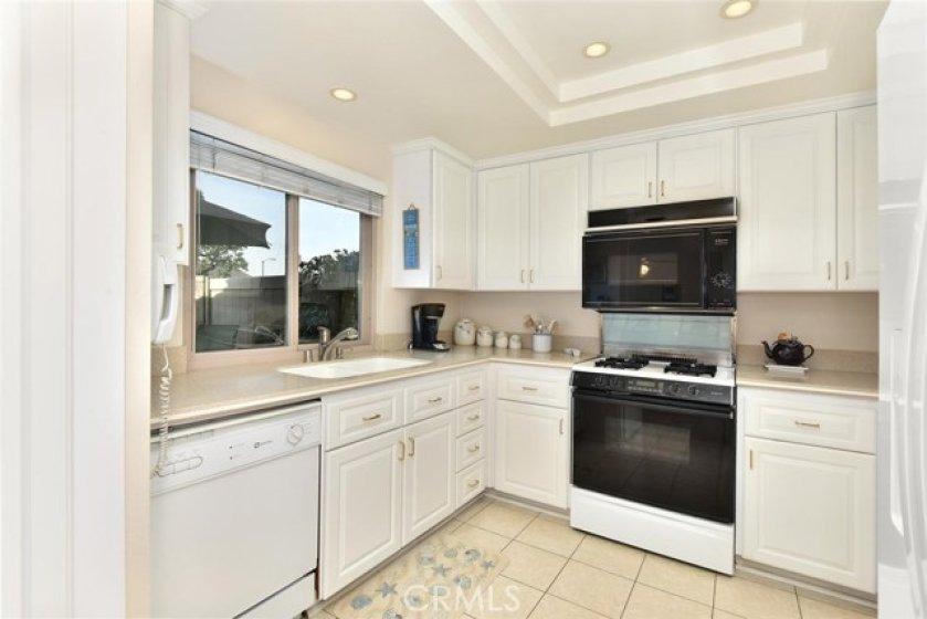 Natural light fills this turn-key kitchen
