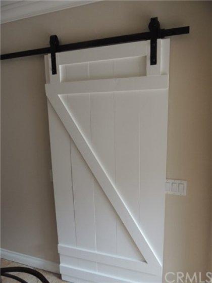 Custom barn door to pantry