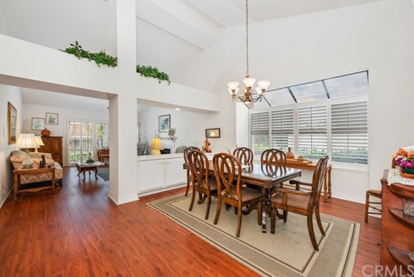 Great entertaining spaces with dining room SEPERATE yet open to the living room. Both have vaulted ceilings