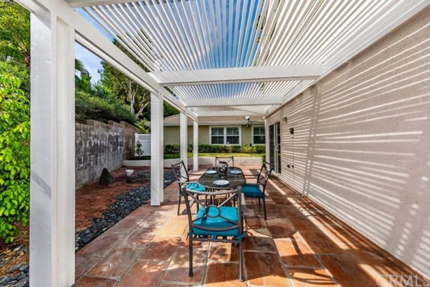Another angle of the large covered patio.
