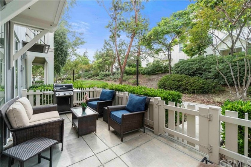 A gated courtyard is perfect for entertaining under the stars or enjoying your morning coffee on the weekends.