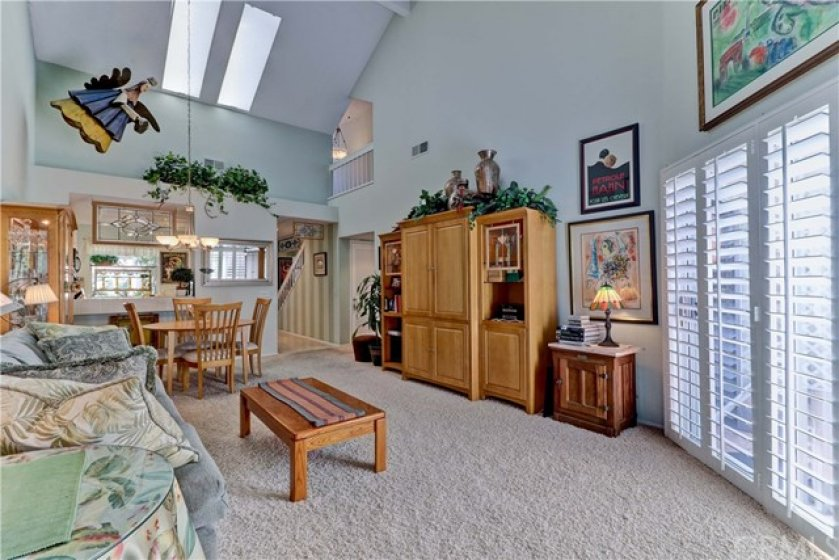 Skylights provide additional lighting to make the rooms light and bright!