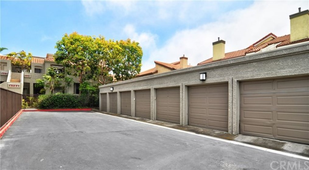 Private one car garage is included with the condo, in addition to one additional outdoor space