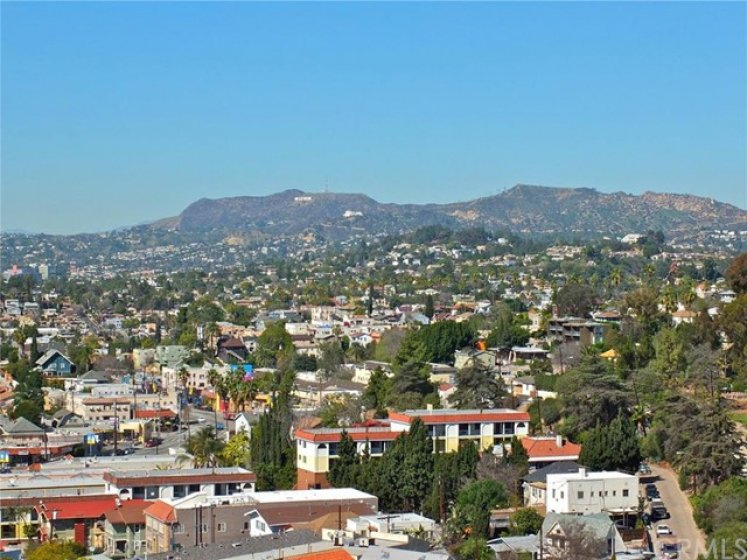 rooftop view of Hollywood Hills