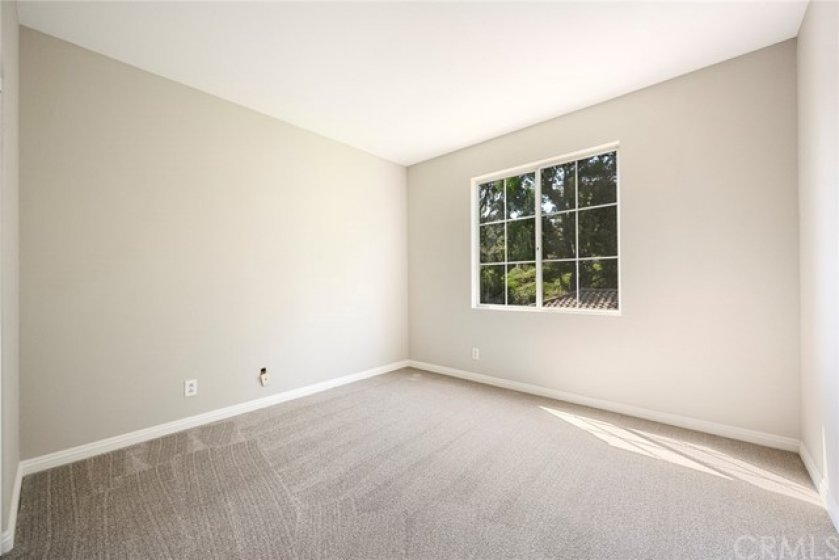 """Second Bedroom with NEW carpet and NEW 5"""" baseboards!"""