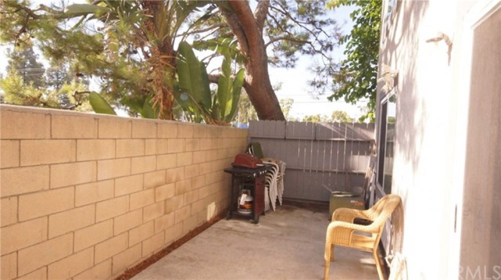 Shaded back patio.