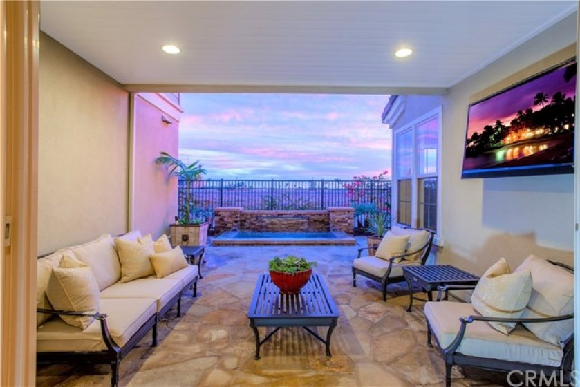 Amazing sunset views off patio area. Electrical set up for outdoor entertainment area.