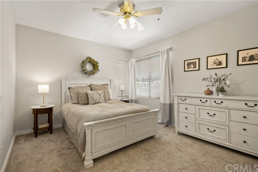 Master Bedroom with attached bathroom and large walk in closet.