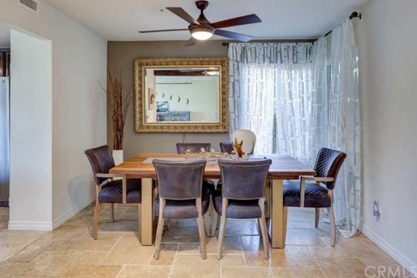 Formal dining room is right off the kitchen