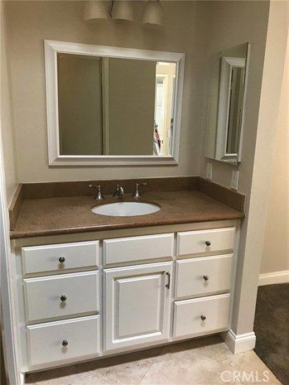 Custom vanity w/stone counter top