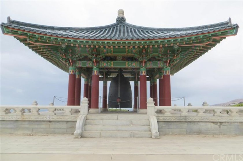 the Korean Bell is a local landmark!  Near Angel's Gate park.