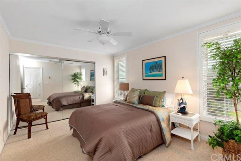 Spacious guestroom with views