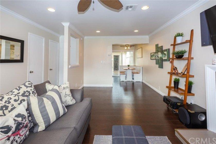 Convenient open floor plan