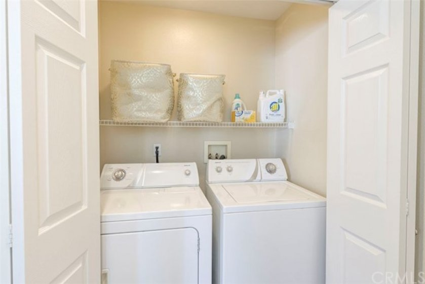 Laundry...conveniently located upstairs...yesss!
